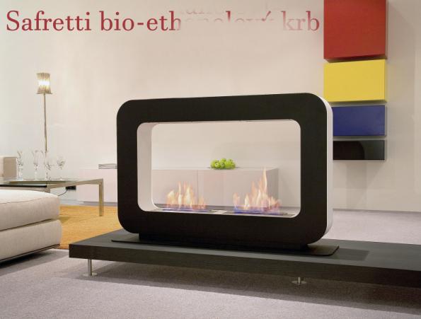 Safretti je holandská firma nabízející bioethanolové krby, která si velmi zakládá na designu svých produktů. Neucítíte žádný zápach, jen teplo a příjemnou atmosféru (PALÁC KRBŮ)