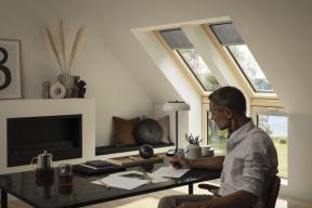 Domácí pracovna potřebuje světlo a čerstvý vzduch (zdroj: VELUX)