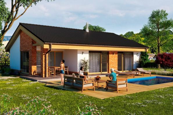 2. místo získal typový dům Žaneta, soutěžní kód K093. Navrhuje společnost THERMO PLUS – projektový ateliér