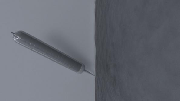 Vzniklá spára se vyplní systémovým protipožárním akrylovým tmelem TYTAN QSA 141. Čerstvý tmel se zapraví stěrkou. Po vyzrání omítek se stěna vymaluje