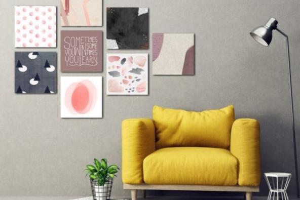S obrazy na stěně vyzařuje z místnosti hřejivá a pozitivní energie