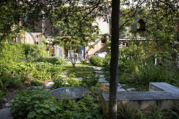 Zahrada je nově navržena s cílem vnést do ní život, dynamiku a barevnost, ale zároveň také vytvořit místo pro klid a relaxaci
