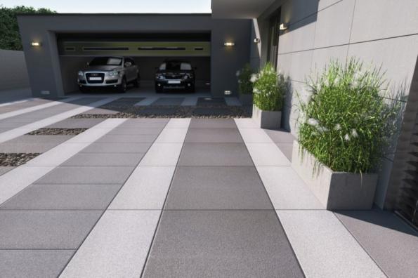 Velkoformátová dlažba MONUME XL se hodí na příjezdové cesty a jiné plochy s vysokým zatížením. Zároveň neztrácí nic na eleganci a stylu