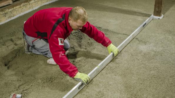 Baumit PorBeton – vyrovnání povrchu