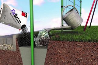 Baumit FixBeton – zalití suché směsi