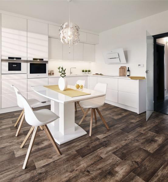 Praktická kuchyň do L nabízí dostatek úložných prostor i dobře přístupné pracovní plochy a umožňuje tak společné vaření i více členům rodiny najednou